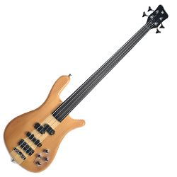 Warwick R564_100CR Natural High Polish RockBass Streamer NT 4 String RH Bass Guitar