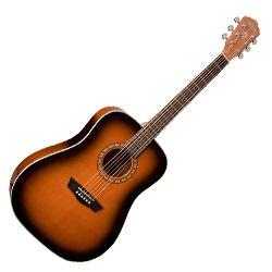 Washburn WD7SATB-O Harvest Series 6-string RH Dreadnought Acoustic Guitar-Tobacco Sunburst Gloss Finish