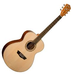Washburn WG7S-O Harvest Series Grand Auditorium 6-string RH Acoustic Guitar-Natural Gloss Finish