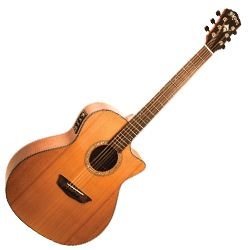 Washburn WLG110SWCEK Woodline 100 Series 6 String RH Acoustic Electric Guitar (discontinued clearance)