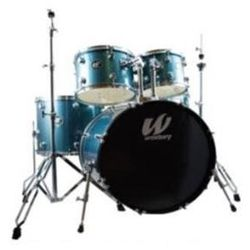 Westbury W565T-AS 5 Piece Studio Drum Kit with Throne in Aqua Sparkle