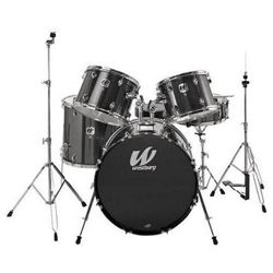 Westbury W565T-BS 5 Piece Studio Drum Kit with Throne in Black Sparkle