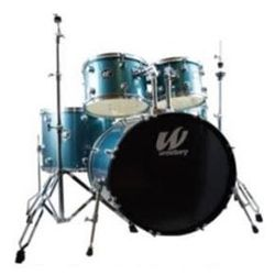 Westbury W575T-AS 5 Piece Studio Drum Kit with Throne in Aqua Sparkle