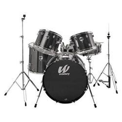 Westbury W575T-BS 5 Piece Studio Drum Kit with Throne in Black Sparkle