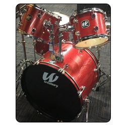 Westbury W575T-RS 5 Piece Studio Drum Kit with Throne in Ruby Sparkle
