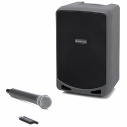 Samson XP106W Rechargeable Battery Operated Portable PA with Handheld Wireless System and Bluetooth