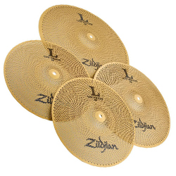"Zildjian LV468 L80 Low Volume Cymbal Box Set with 14"" Hi-hats, 16"" Crash, 18"" Crash Ride"
