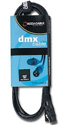 American Audio AC3PDMX10 Accu Cable 10' 3 pin DMX Cable