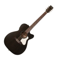 Art & Lutherie 042371 Legacy Faded Black CW QIT Acoustic Electric 6 String RH Guitar