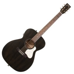 Art & Lutherie 042388 Legacy Faded Black QIT Acoustic Electric 6 String RH Guitar