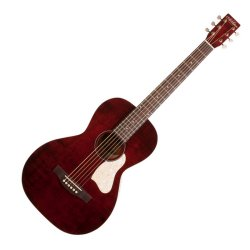 Art & Lutherie 042401 Roadhouse Tennessee Red Acoustic Electric 6 String RH Guitar WITH BAG