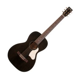 Art & Lutherie 042418 Roadhouse Faded Black Acoustic Electric 6 String RH Guitar WITH BAG