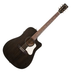 Art & Lutherie 042463 Americana Faded Black CW QIT Acoustic Electric 6 String RH Guitar