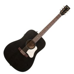 Art & Lutherie 042470 Americana Faded Black QIT Acoustic Electric 6 String RH Guitar
