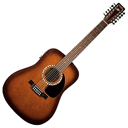 Art & Lutherie 026555 Cedar Antique Burst QI 12 String Acoustic Electric RH Guitar (discontinued clearance)