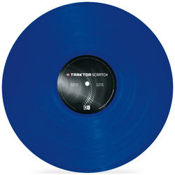 Native Instruments Traktor Scratch Pro Control Vinyl MK2 BLU Scratch Vinyl in BLUE