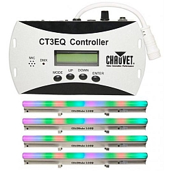 Chauvet DJ COLORtube 3.0 EQ(5pcs) + CT3EQ Controller Package - Linear Chase and Static Color Effect (discontinued clearance/demo)