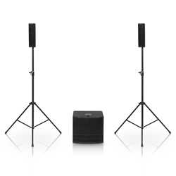 dB Technologies ES503 Bluetooth Enabled Portable Column Speaker PA System with Built in Mixer and Stands