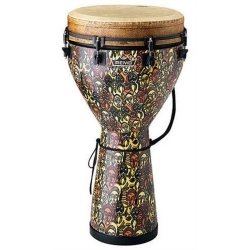 "Remo DJ-0010-LM 10"" Key Tuned Djembe - Multi-Mask Finish"