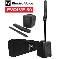Electro Voice EVOLVE50-TB/SB-COMBO Active Portable Line Array Sound System with Bluetooth