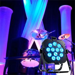 "American DJ FLAT-PAR-QA12XS RGBA 12x5W professional ""low profile"" LED Par Light"