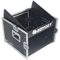 Odyssey FZ1006 Flight Zone Ata Combo Rack 10u Top Slanted Rack Spaces & 6u Bottom Vertical Rack Spaces