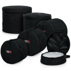 Gator MI GP-Standard-100 Padded 5-Piece Standard Drum Bag Set - Black