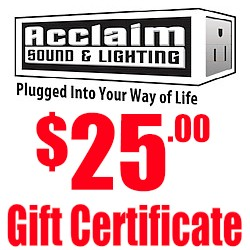 Acclaim $25 Gift Certificate