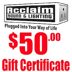 Acclaim $50 Gift Certificate