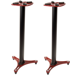 Ultimate Support MS9045R 45 Inch Professional Column Studio Monitor Stand in Red