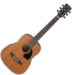 Ibanez PF2MH-OPN-d 6 String Dreadnought 3/4 size Acoustic Guitar in Open Pore Natural Finish (discontinued clearance)  (Prior Year Model)