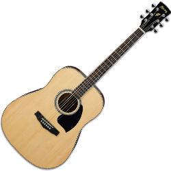 Ibanez PF15-NT-d 6 String Acoustic Guitar with Dreadnought Body in Natural High Gloss (discontinued clearance)  (Prior Year Model)
