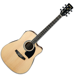 Ibanez PF15ECE-NT-d 6 String Acoustic Electric Guitar with Cutaway dreadnought body in Natural High Gloss (discontinued clearance)  (Prior Year Model)