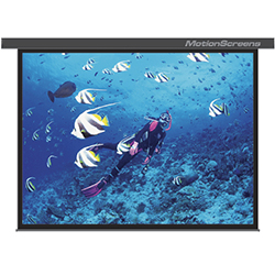 MotionScreens MSESR100K 5x7 Foot 100 Inch Electric Screen with Black Casing