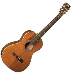 Washburn R314KK 6 String Vintage Parlor Acoustic Guitar with Case (discontinued clearance)