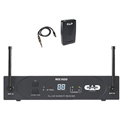 CAD Audio WX1600 UHF 100 Channel Frequency Agile Handheld Wireless System