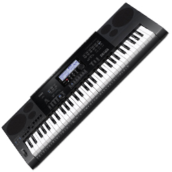 Casio CTK7200 61 Key Piano Style Portable Keyboard with AC Adaptor