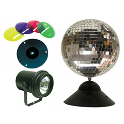American DJ MB-8-COMBO Mirror Ball Package