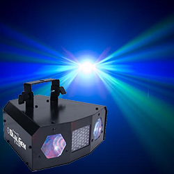 American DJ DUAL-GEM-PULSE LED Dual Lens Moonflower Effect Light**discontinued clearance**