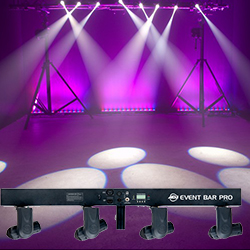 American DJ EVENT-BAR-PRO Bar Light 4-head Pinspot system with 10W White LEDs