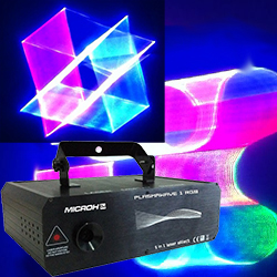 Microh DJ Plasmawave 1RGB 1 Watt 5 in 1 Laser Projector with 3D Effects