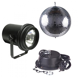 American DJ M-500L Mirror Ball Package