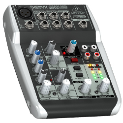 Behringer Q502USB XENYX Premium 5 Input 2 bus Mixer with XENYX Mic Preamp and Compressor