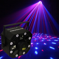 Microh DJ MONSOON FX GB LED Laser and Strobe Effect discontinued clearance