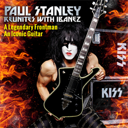 Ibanez PS40-BK Paul Stanley Signature 6 String Electric Guitar in Black
