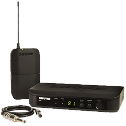 Shure BLX14-J10 Wireless Instrument System with BLX1 Bodypack Transmitter and BLX4 Single Channel Receiver (584.150 – 607.875 MHz)
