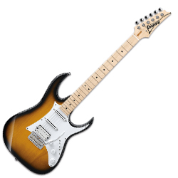 Ibanez AT10P-SB Andy Timmons Solid Body 6-String Electric Guitar in Sunburst
