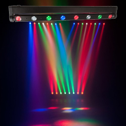 American DJ SWEEPER-BEAM-QUAD-LED 8 Zone RGBW LED chasing pulsing and strobing LEDs with DMX