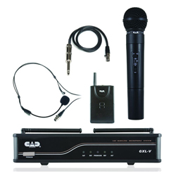 CAD Audio GXLVHBH VHF Combo Wireless Band System on H Frequency Band with WXHW and WXLAV