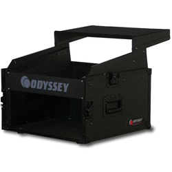 Odyssey FRGS806BL Black Label Flight Ready Glide Style 8 Space x 6 Space Combo Rack Case